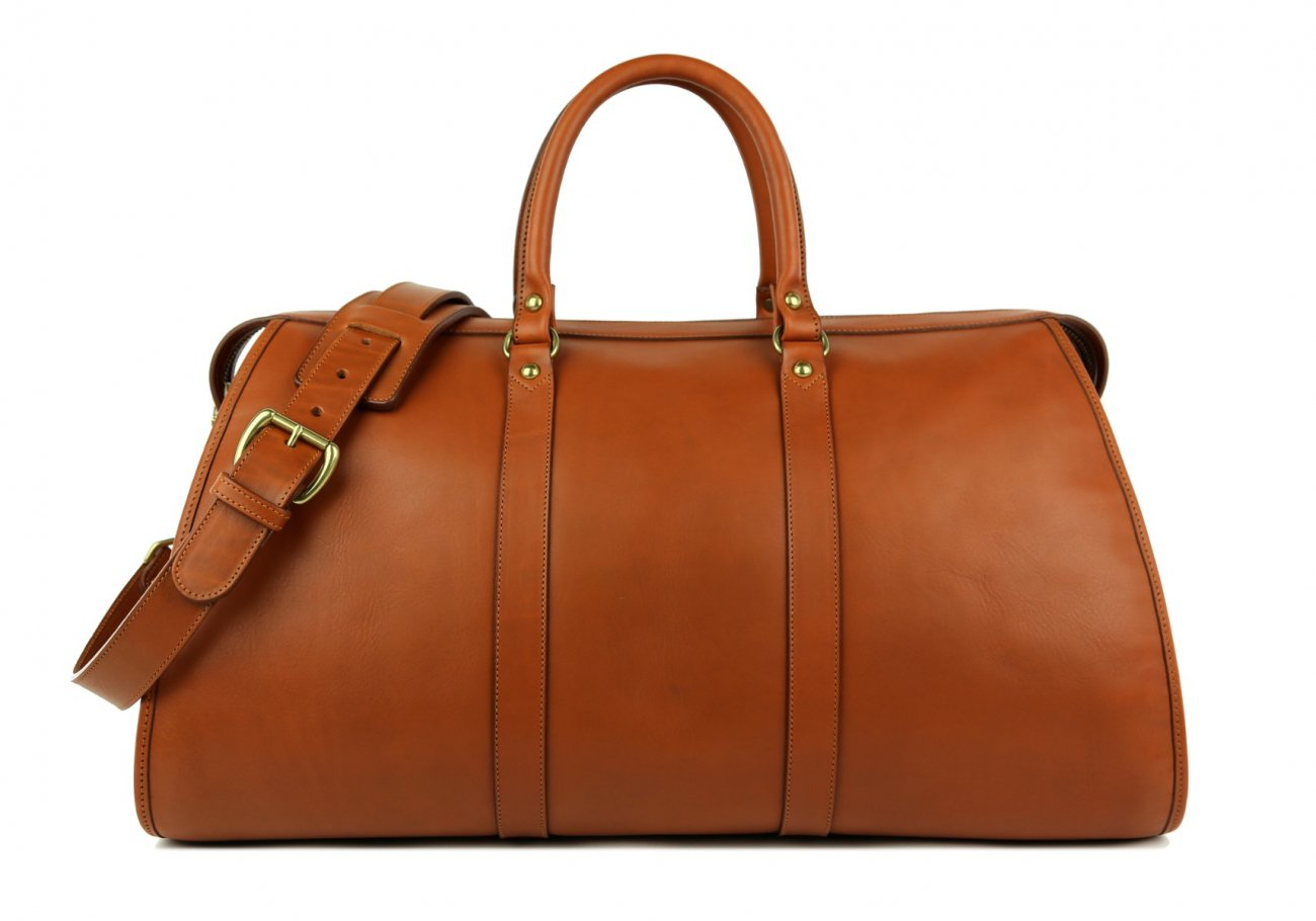 Light Brown Leather Duffle Bag Hampton Frank Clegg 1 1