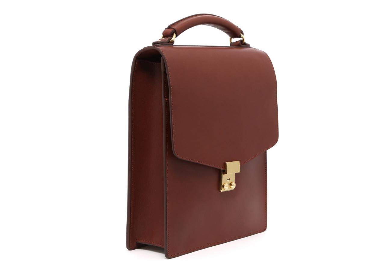 Locking Messenger Bag With Handle Chestnut3