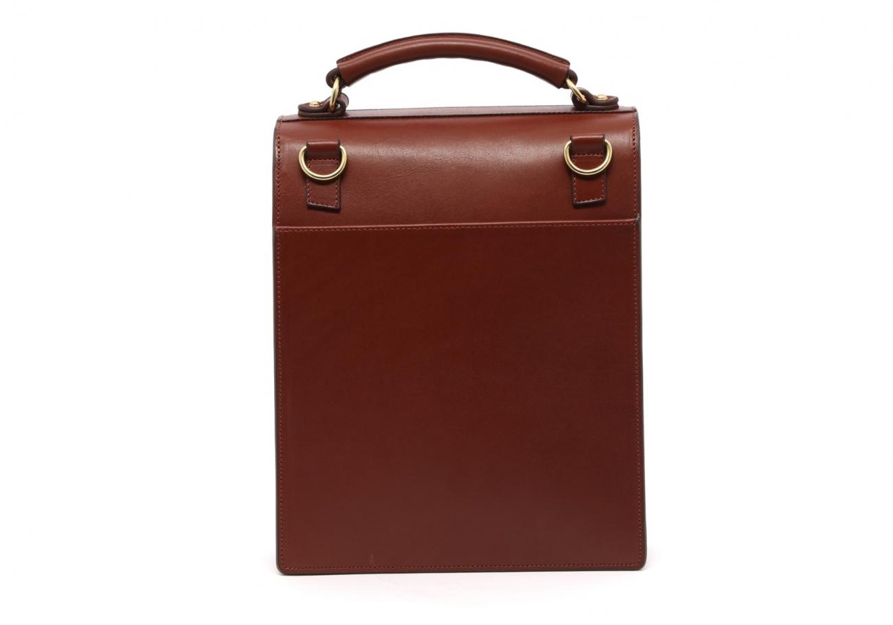 Locking Messenger Bag With Handle Chestnut5