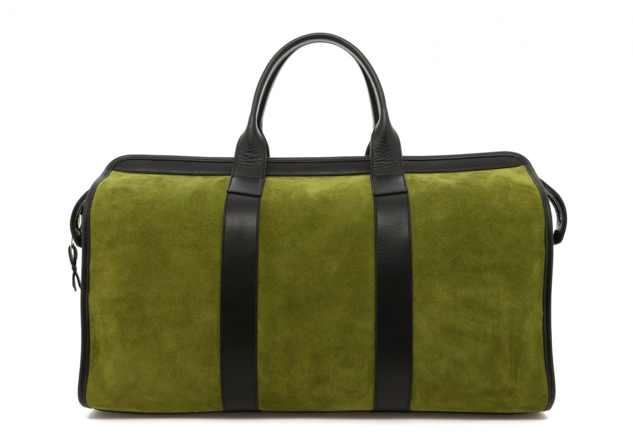 Loden Green Suede Sig Duffle B