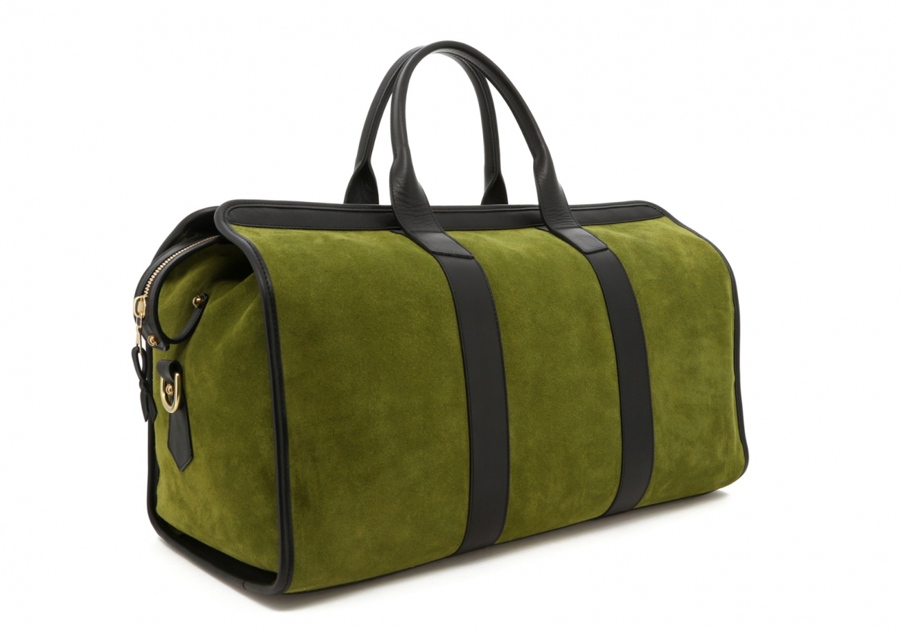 Loden Green Suede Sig Duffle C