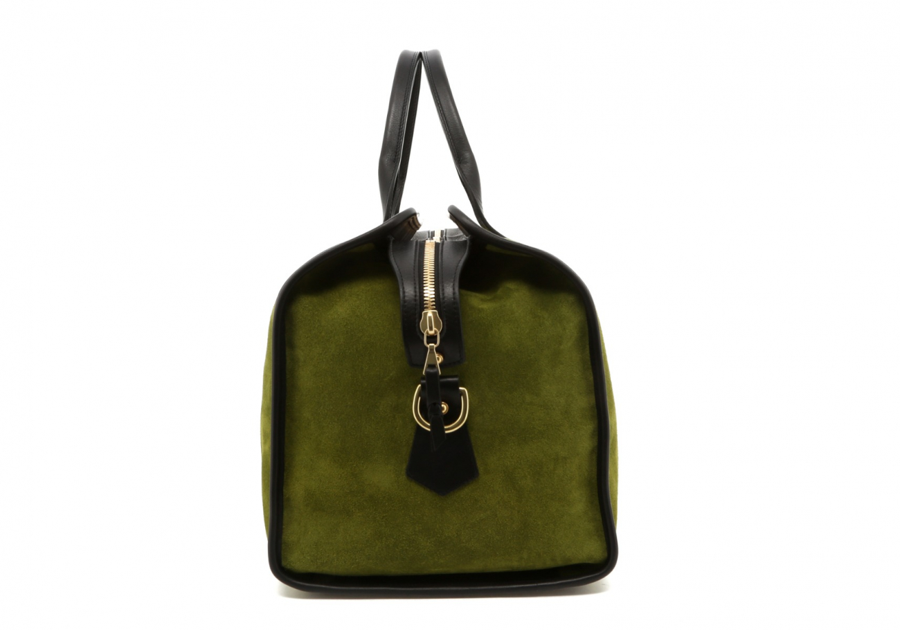 Loden Green Suede Sig Duffle D