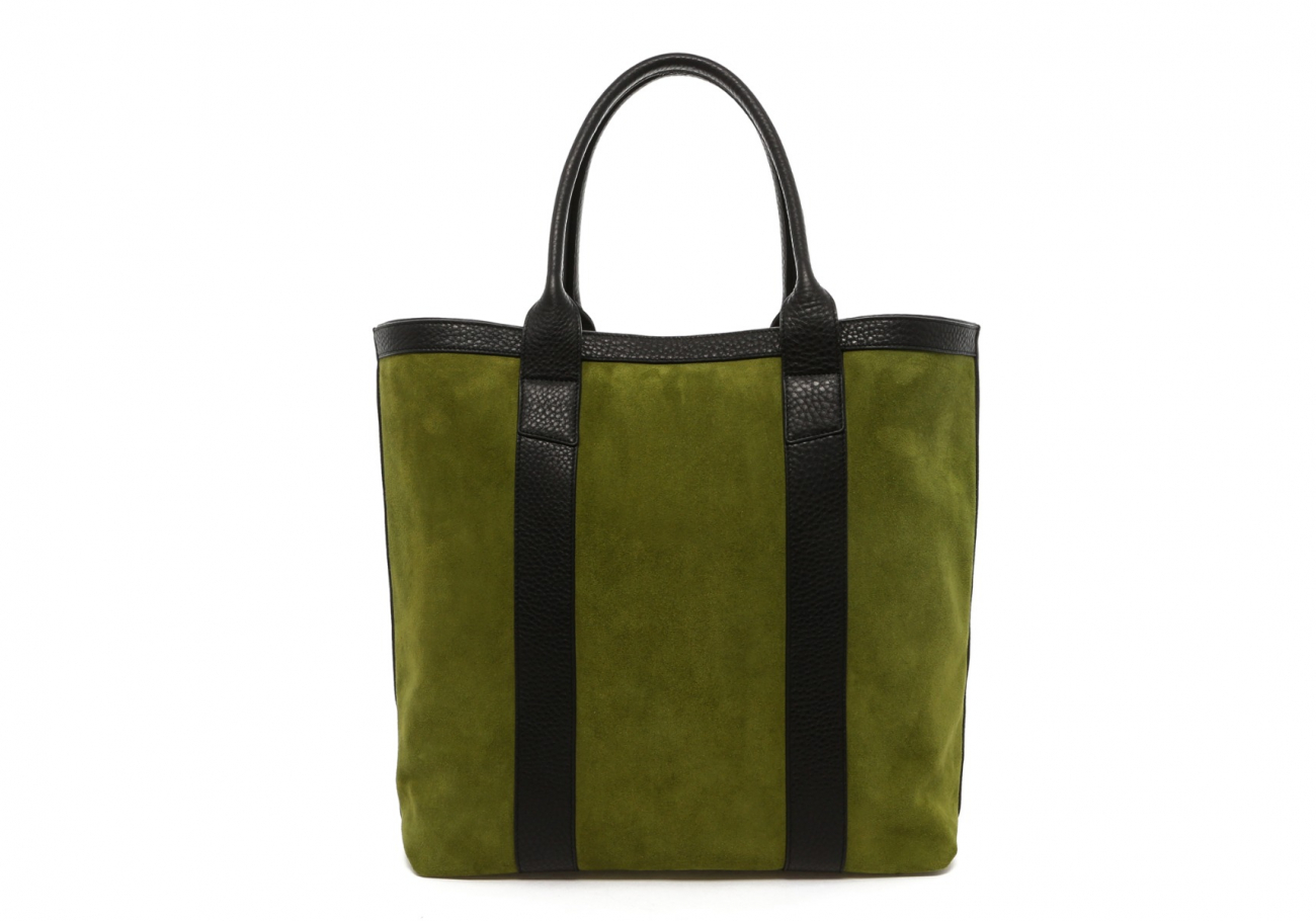 Loden Green Suede Tall Tote B