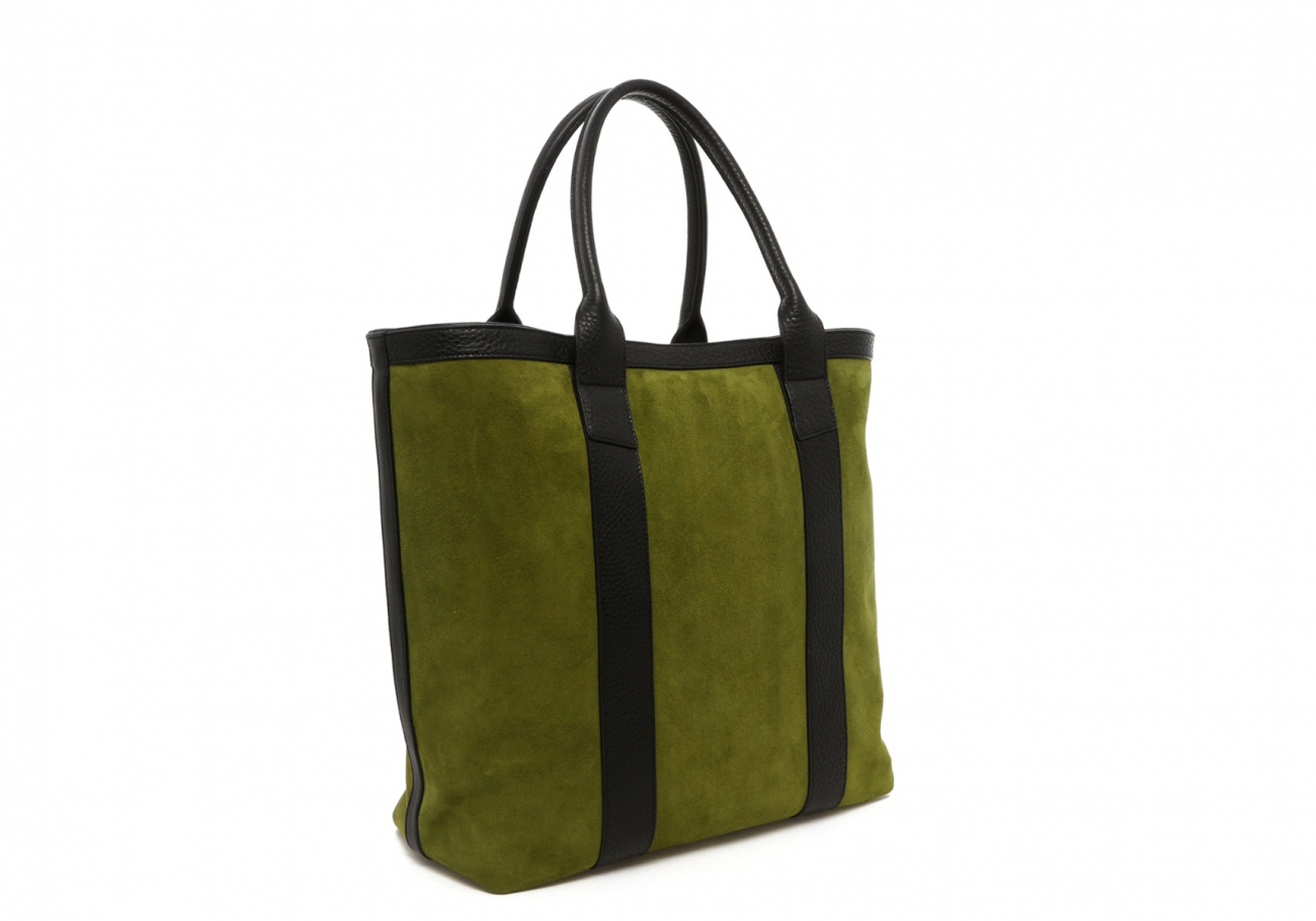 Loden Green Suede Tall Tote C