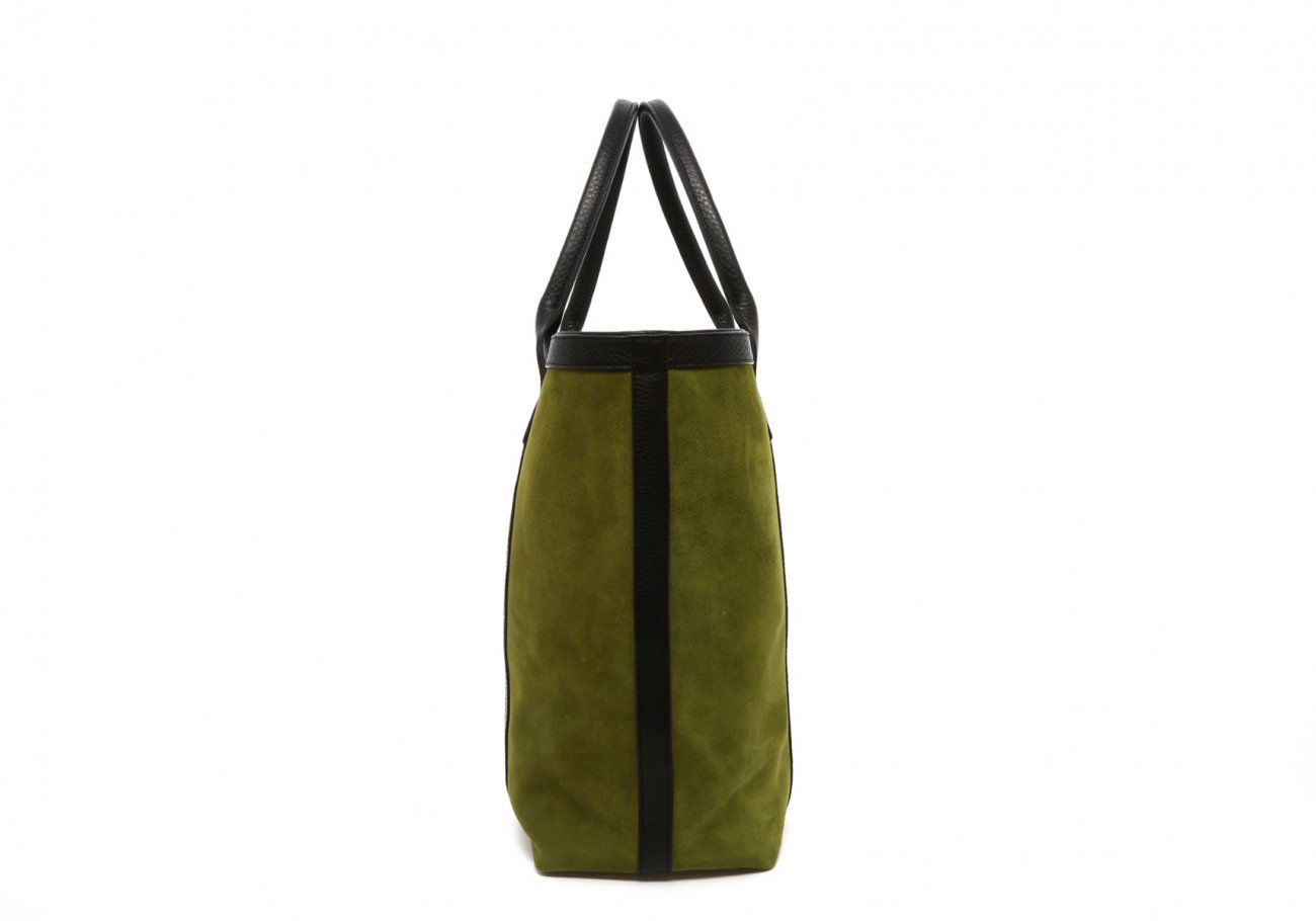 Loden Green Suede Tall Tote D