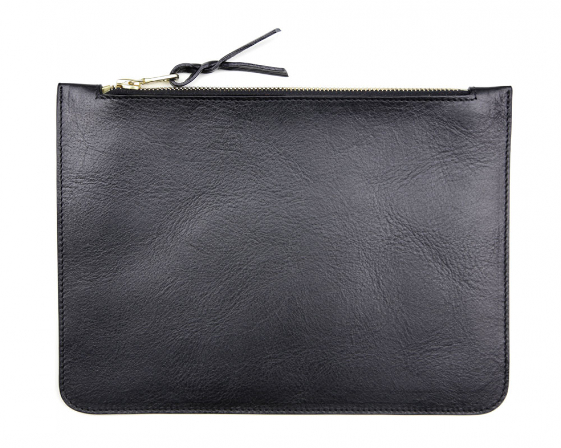 Medium Black Zipper Pouch Made In Usa Frank Clegg 1