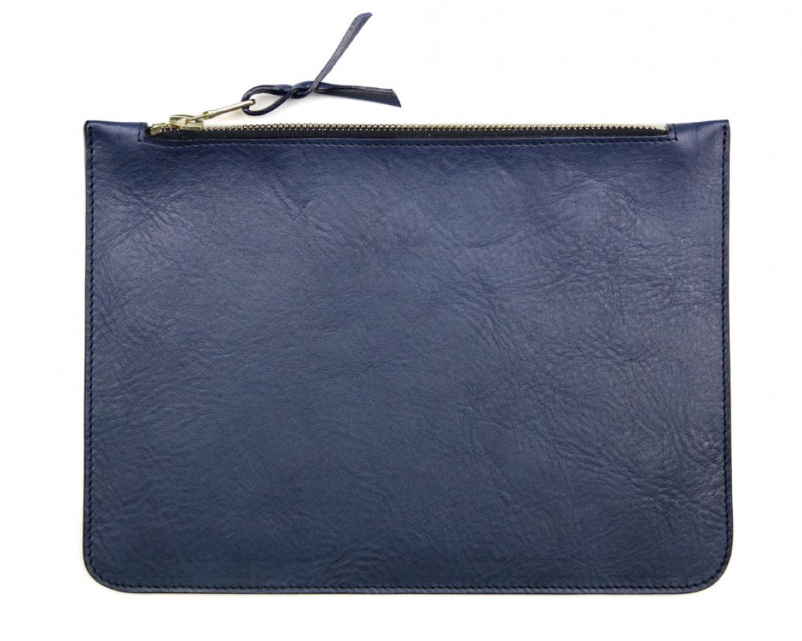 Medium Blue Zipper Pouch Made In Usa Frank Clegg 1