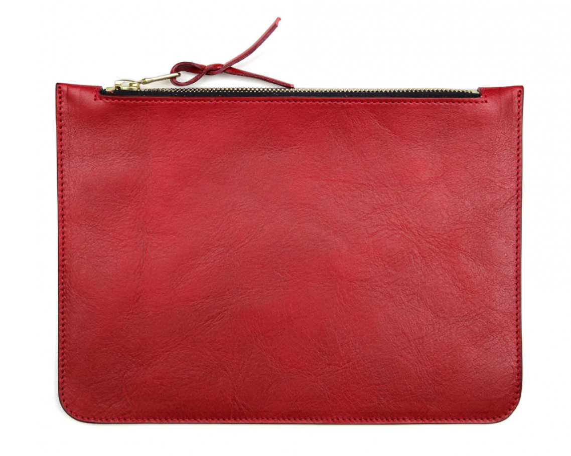 Medium Red Zipper Pouch Made In Usa Frank Clegg 1