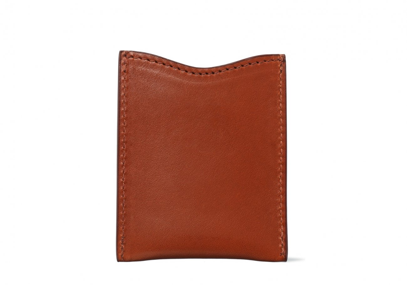 Money Clip Leather Wallet Cognac 1 1