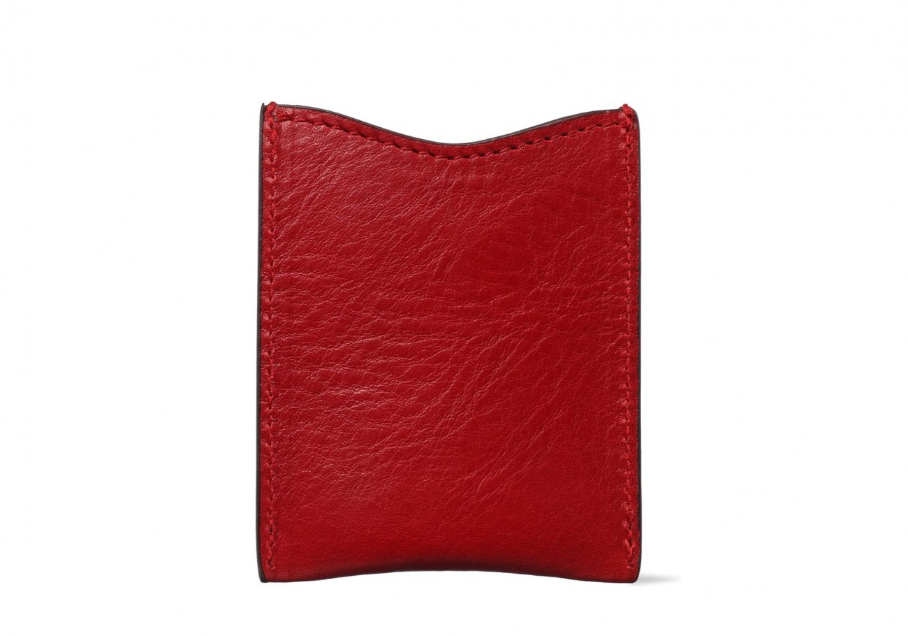 Money Clip Leather Wallet Red 1 1