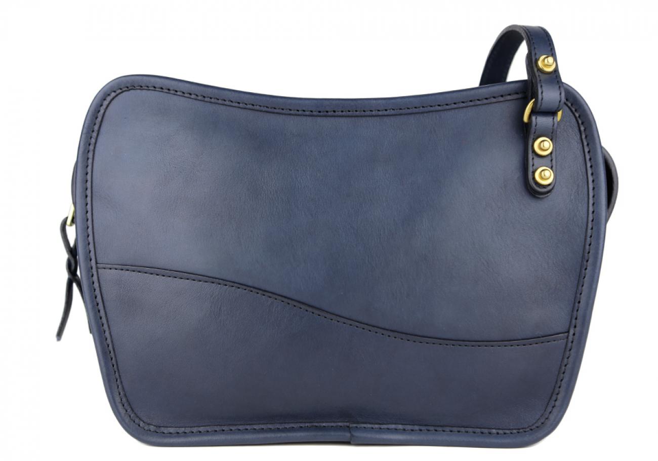 Navy Lilly Shoulder Bag Frank Clegg Made In Usa 1