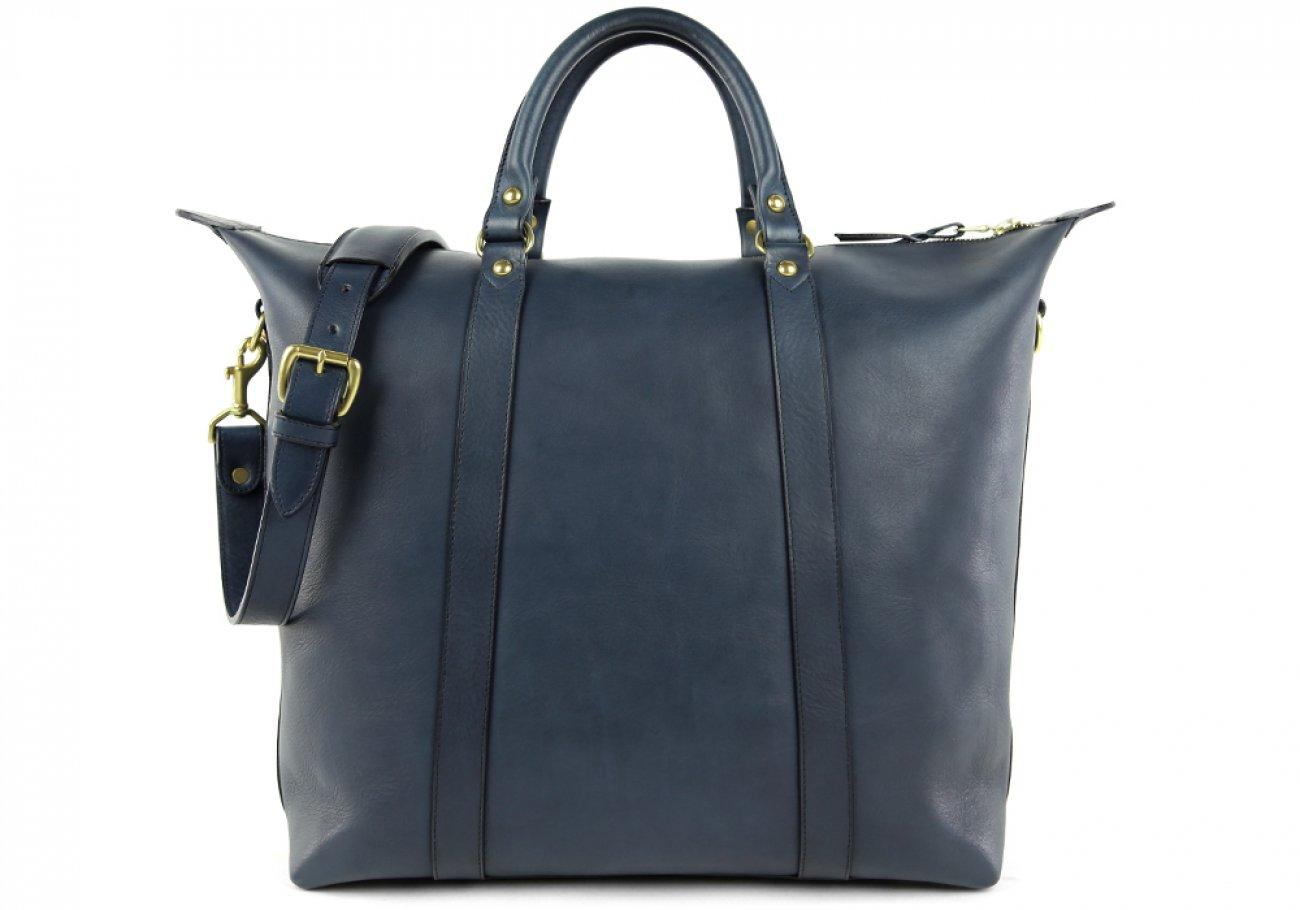 Navy Zipper Tote Bag 1