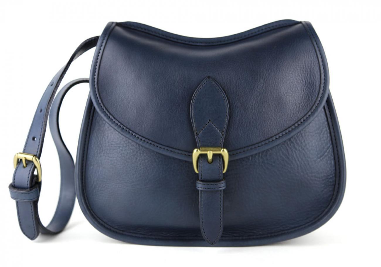 Navy Abby Shoulder Bag Frank Clegg Made In Usa 1