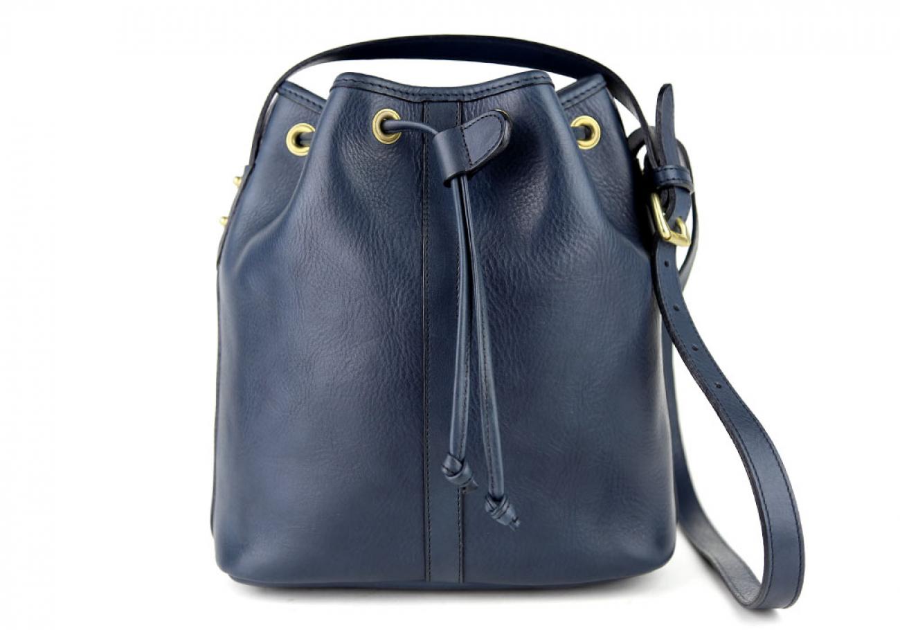 Navy Cara Draw String Bag Frank Clegg Made In Usa 1