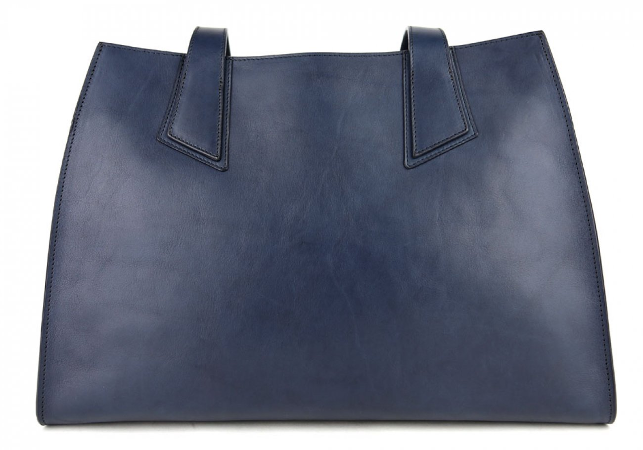 Navy Elle Tote Bag Frank Clegg Made In Usa 1