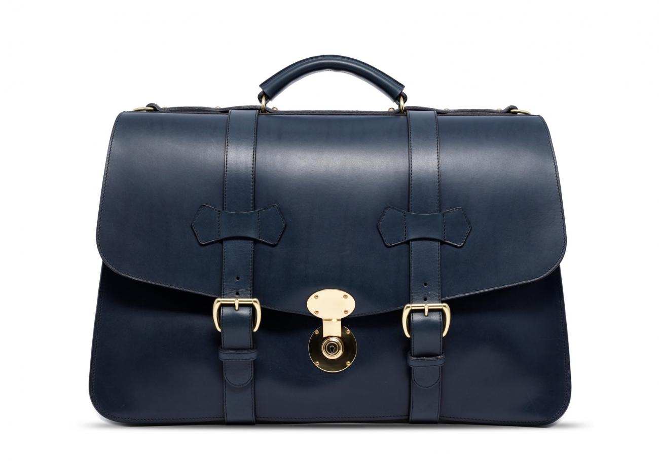 Navy Lawyers Briefcase With Lock11