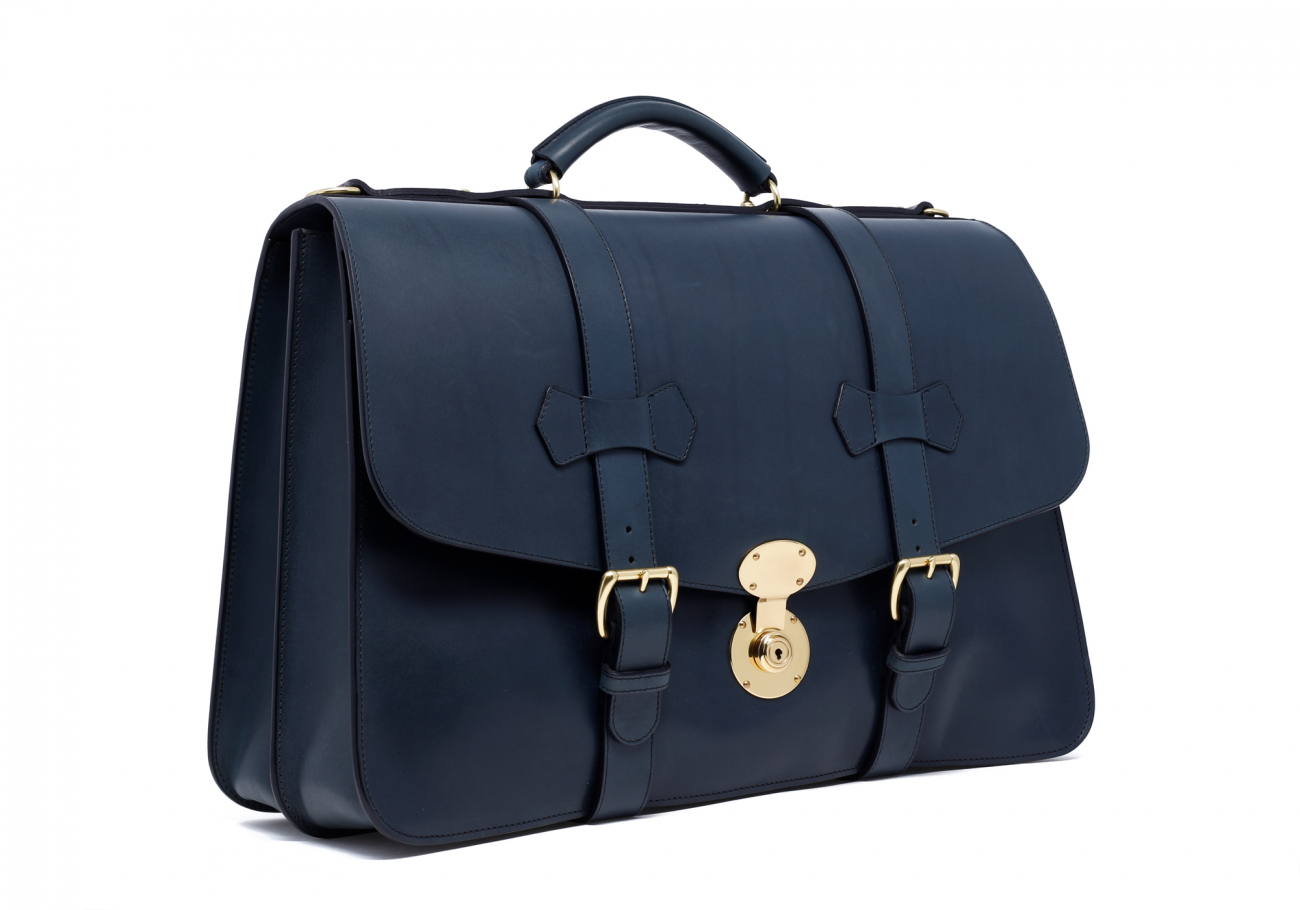 Navy Lawyers Briefcase With Lock2