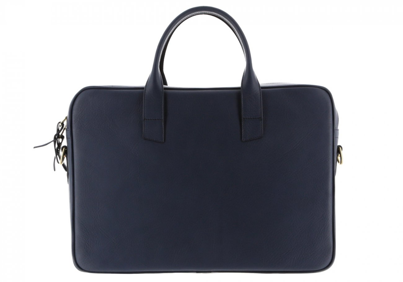 Navy Leather Computer Briefcase Frank Clegg 10