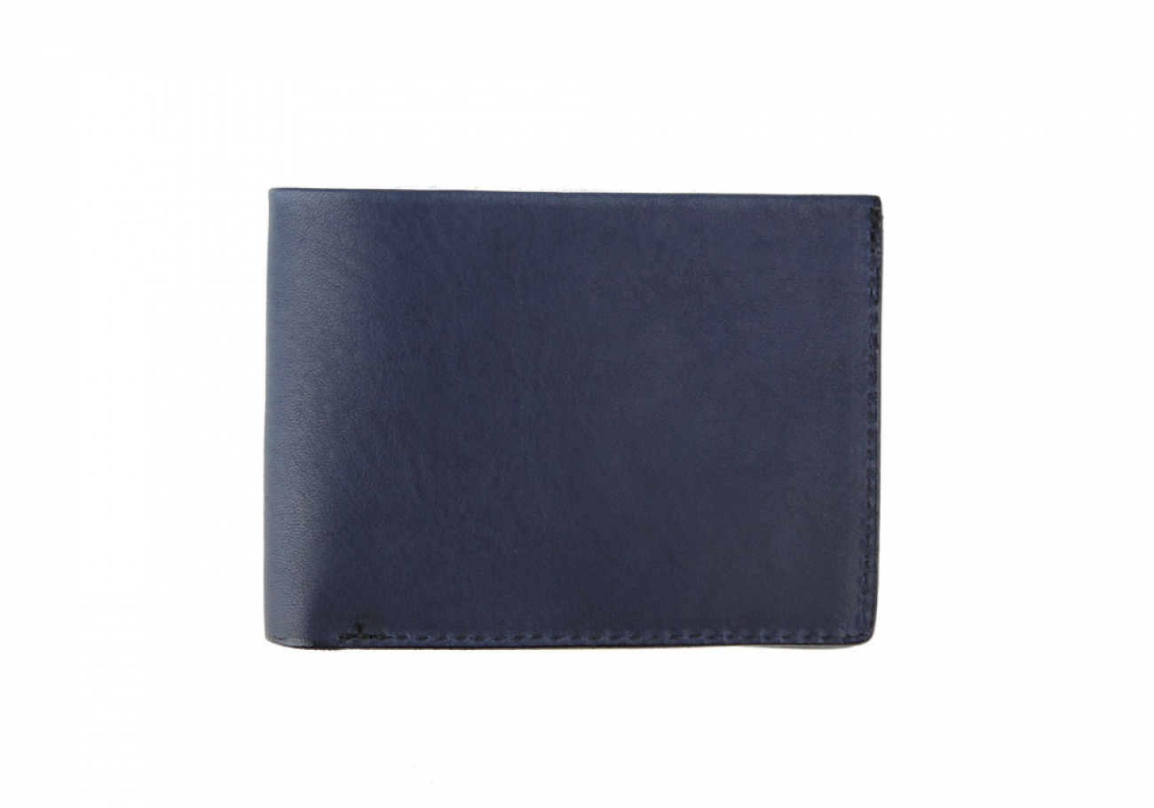 Navy Leather Slim Wallet  Frank Clegg Made In Usa 1