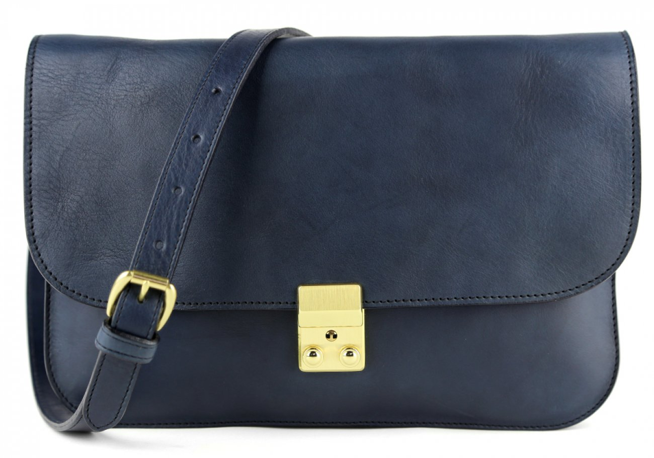 Navy Lock Clutch Frank Clegg Made In Usa 1
