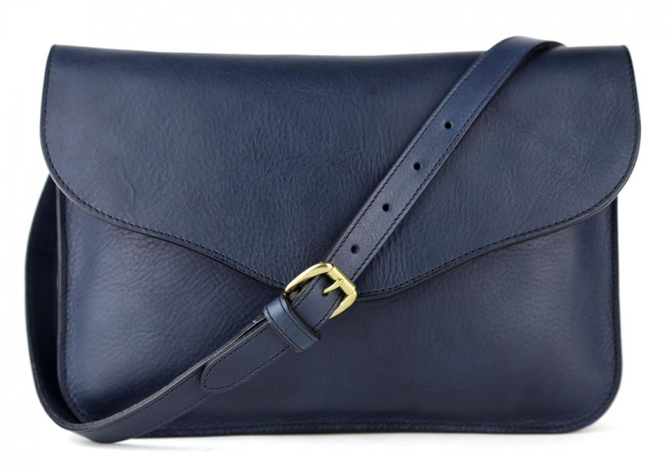 Navy Maddie Shoulder Bag Frank Clegg Made In Usa 1