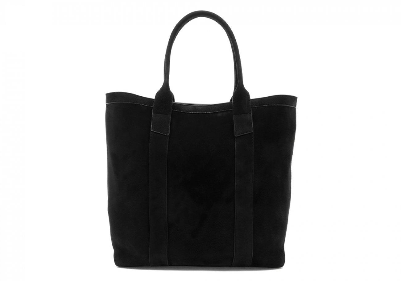Nubuck Tote Bag Black Permanent Style Frank Clegg1