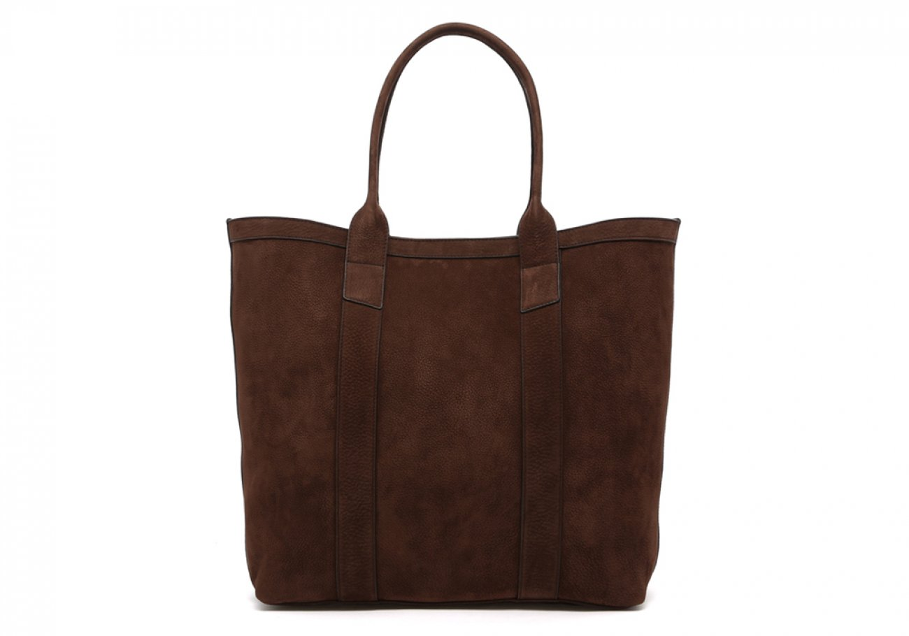 Nubuck Tote Bag Brown Permanent Style Frank Clegg1