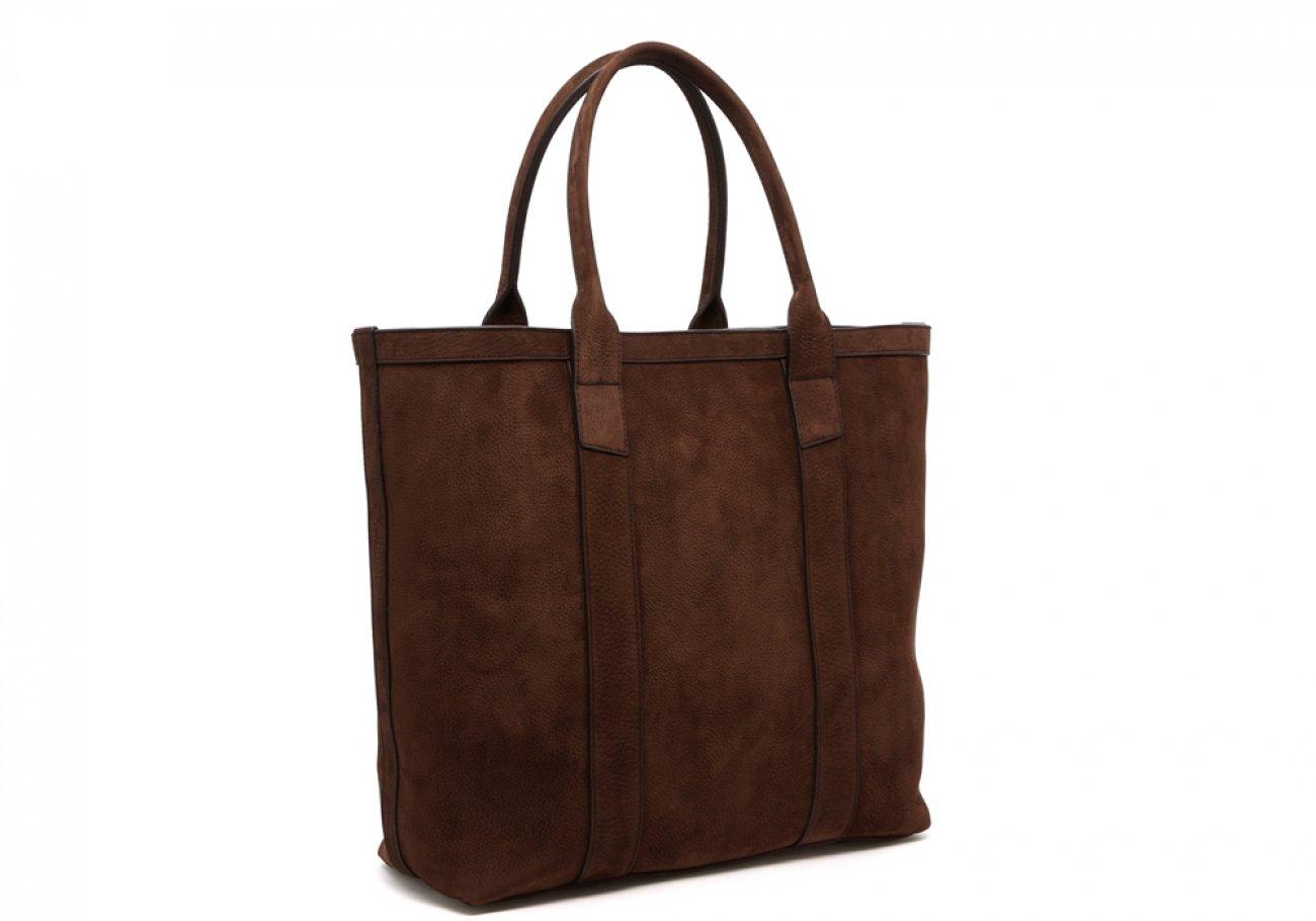 Nubuck Tote Bag Brown Permanent Style Frank Clegg2