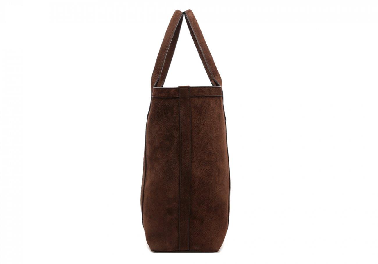 Nubuck Tote Bag Brown Permanent Style Frank Clegg3