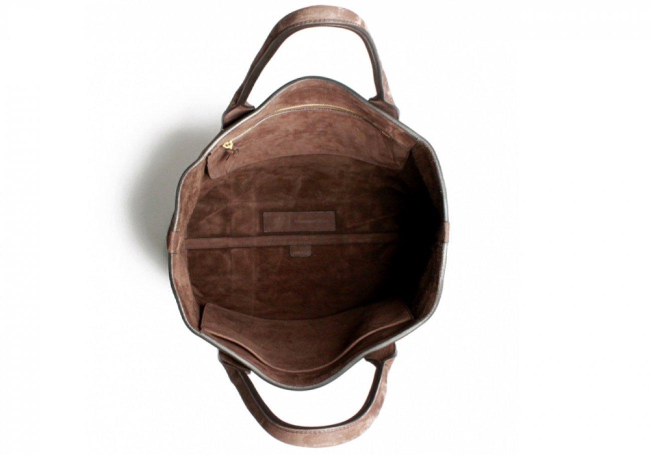 Nubuck Tote Bag Brown Permanent Style Frank Clegg4