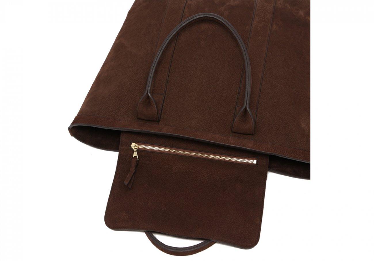 Nubuck Tote Bag Brown Permanent Style Frank Clegg7