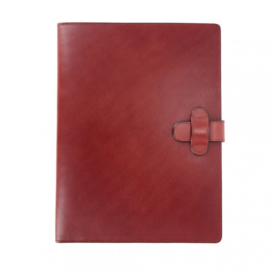 Red Harness Belting Leather Note Pad Frank Clegg Made In Usa 1