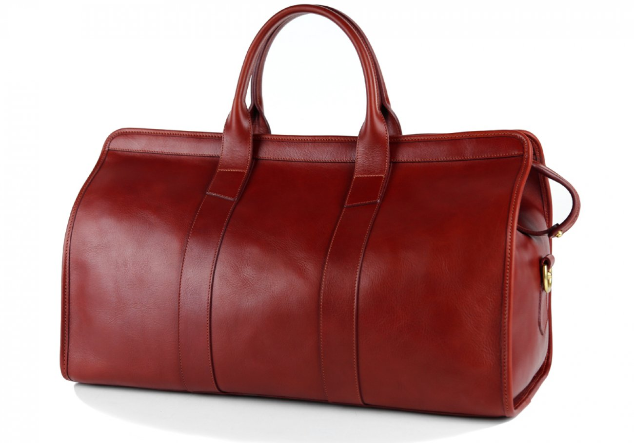 Red Signature Leather Duffle Bag Frank Clegg Made In Usa 4 2