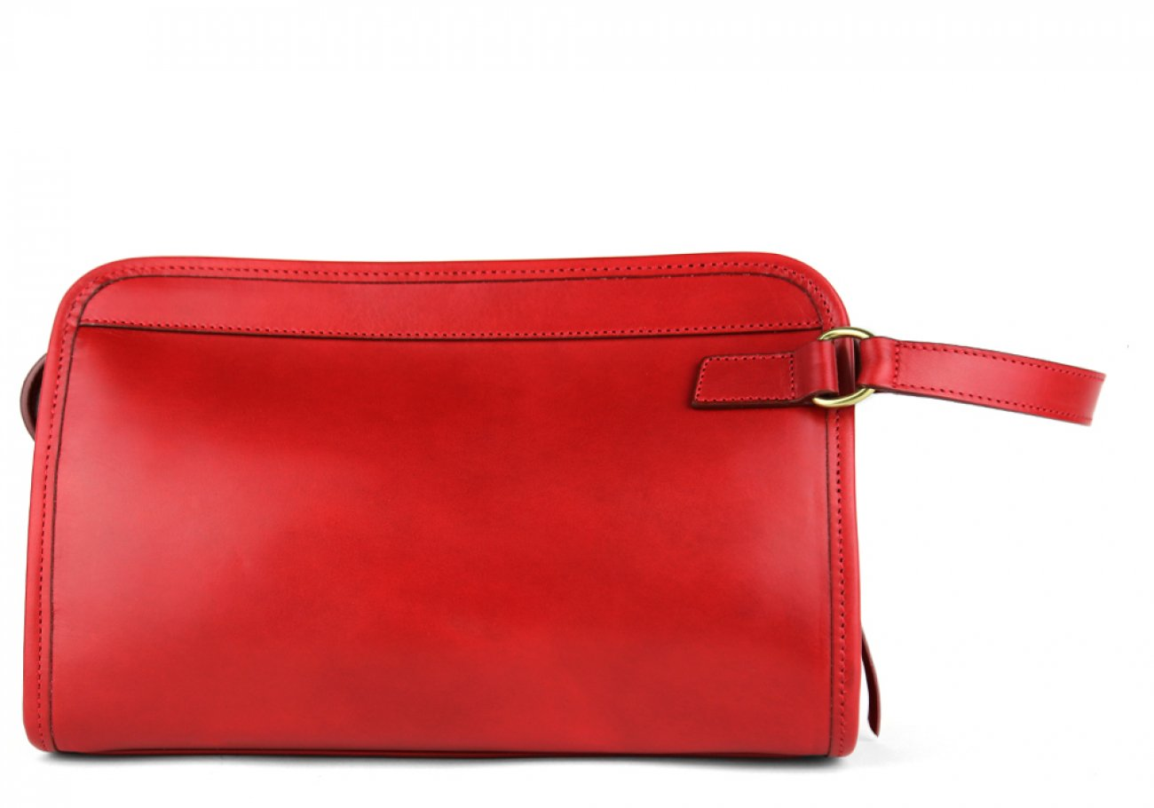 Red Small Belting Leather Travel Kit Frank Clegg Made In Usa 1