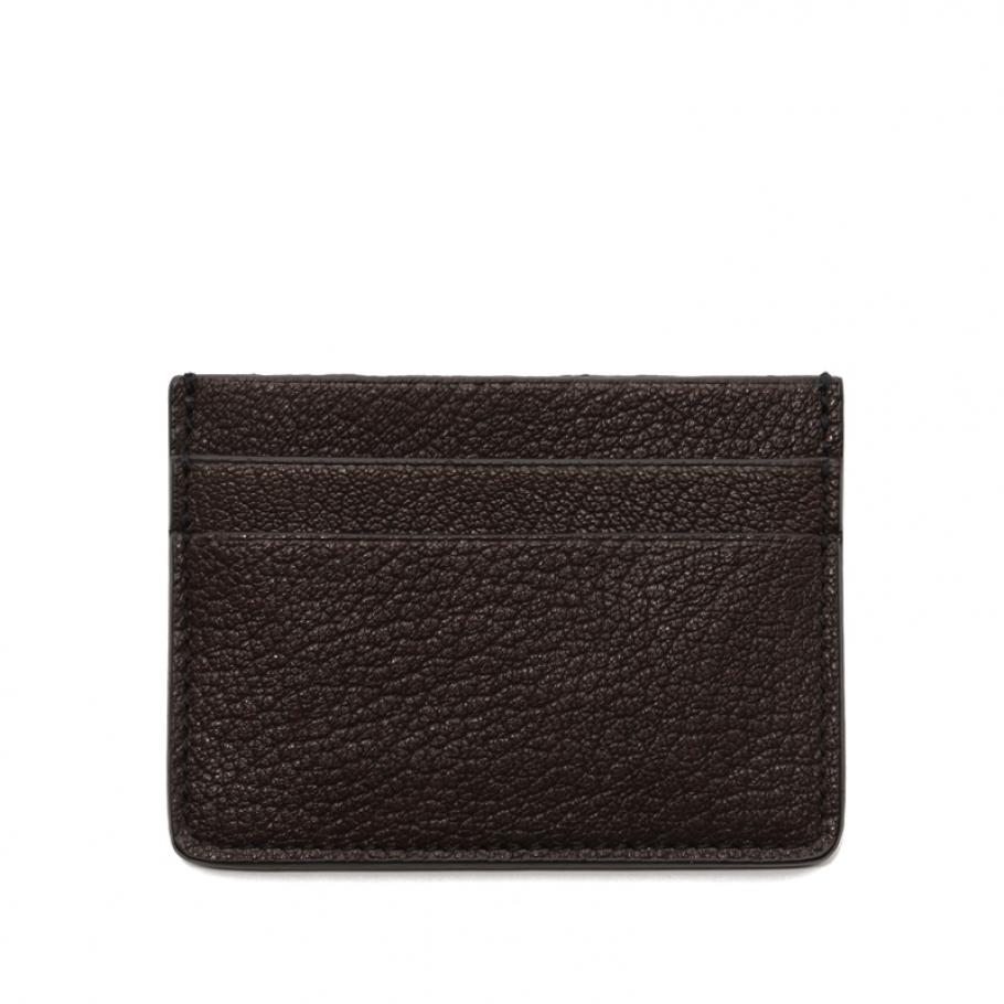 Single Card Wallet Chocolate Goatskin Frank Clegg