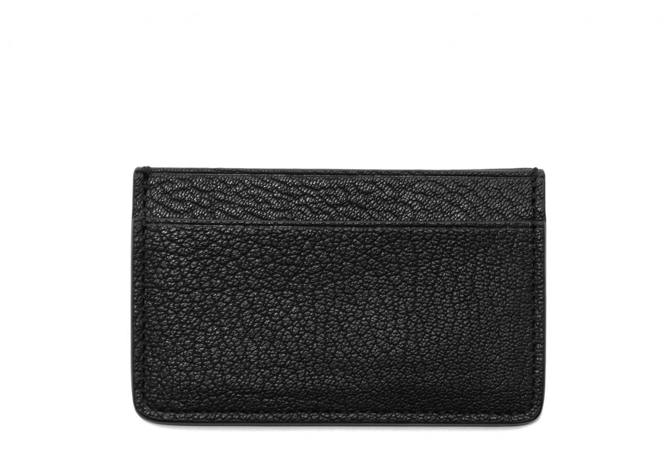 Single Card Wallet Black Goatskin1