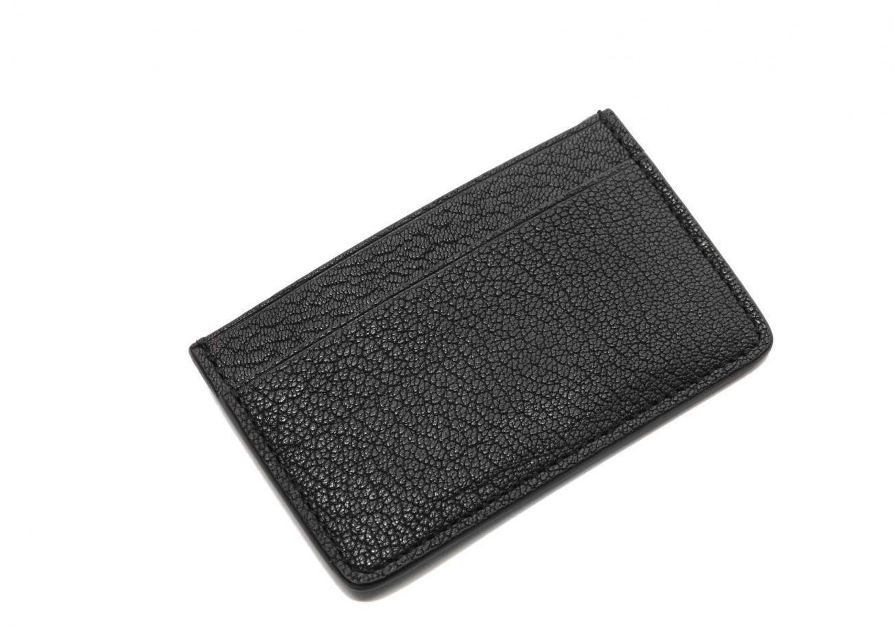 Single Card Wallet Black Goatskin2