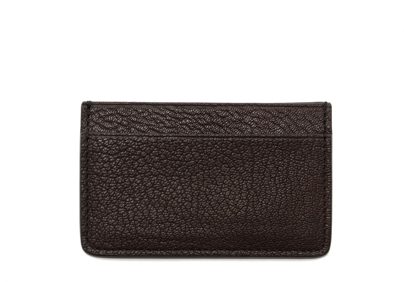 Single Card Wallet Chocolate Goatskin1