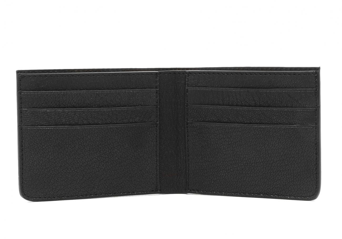 Six Card Bifold Wallet Black Goatskin1 1
