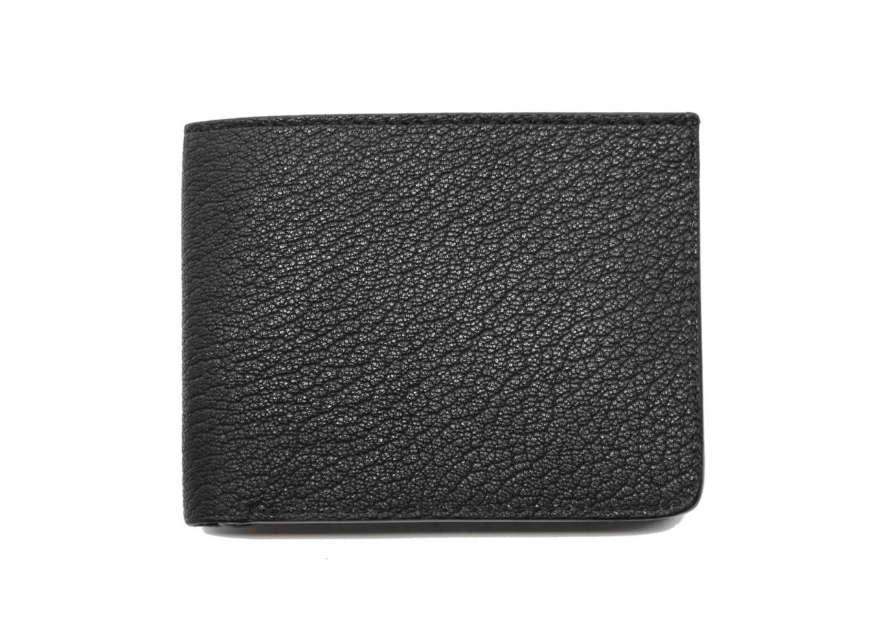 Six Card Bifold Wallet Black Goatskin2 1