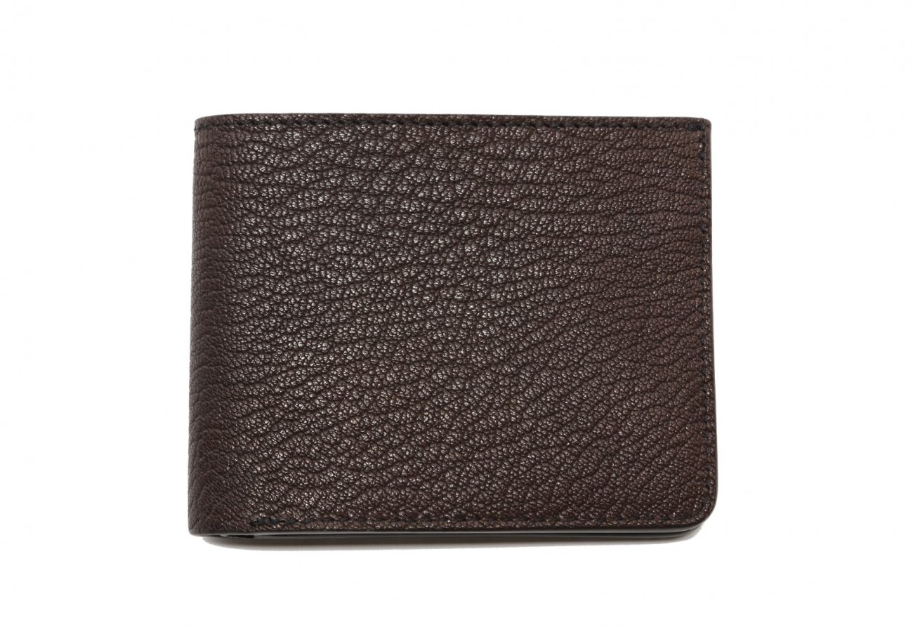 Six Card Bifold Wallet Chocolate Goatskin1 1