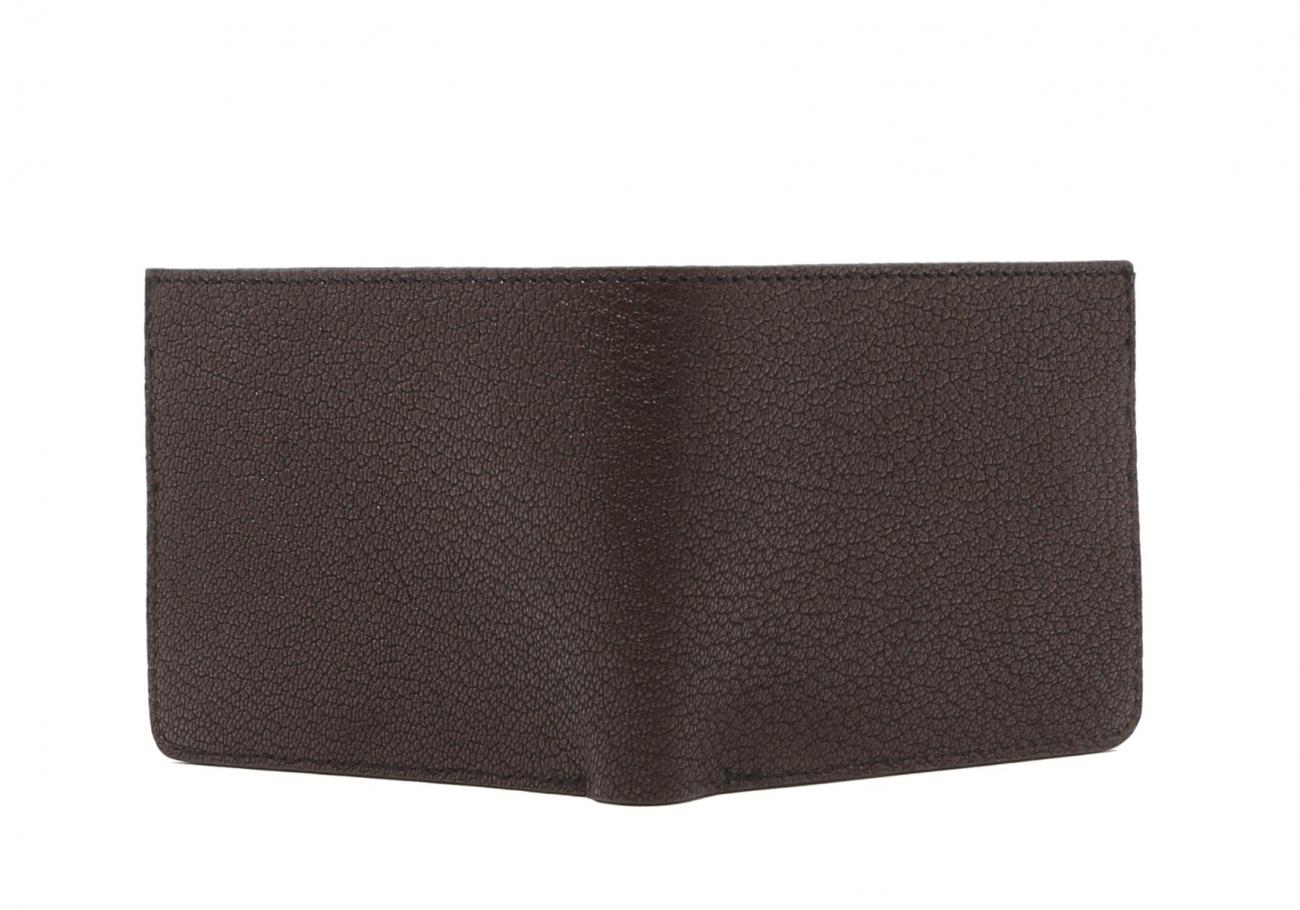 Six Card Bifold Wallet Chocolate Goatskin2 1