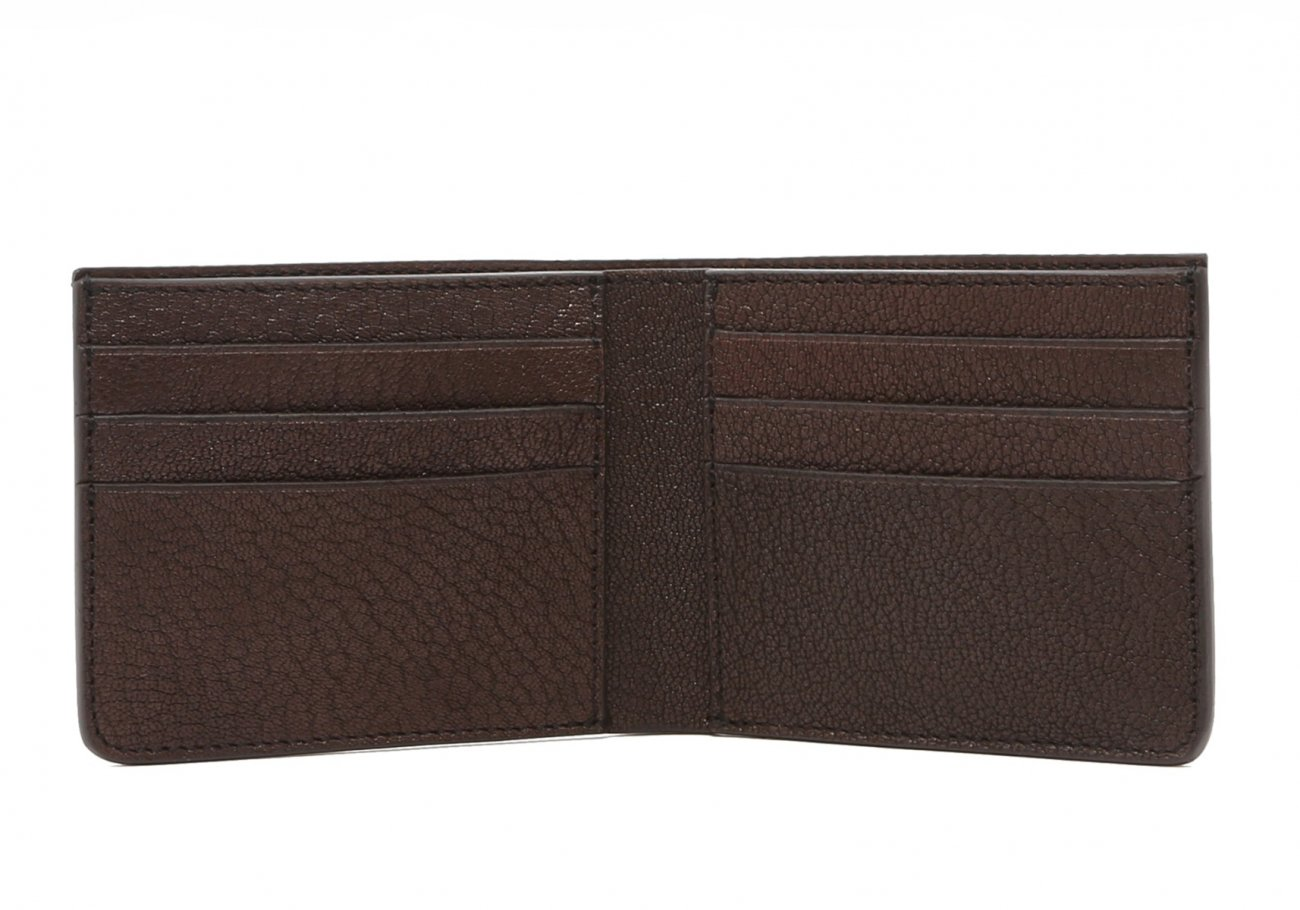 Six Card Bifold Wallet Chocolate Goatskin3 1