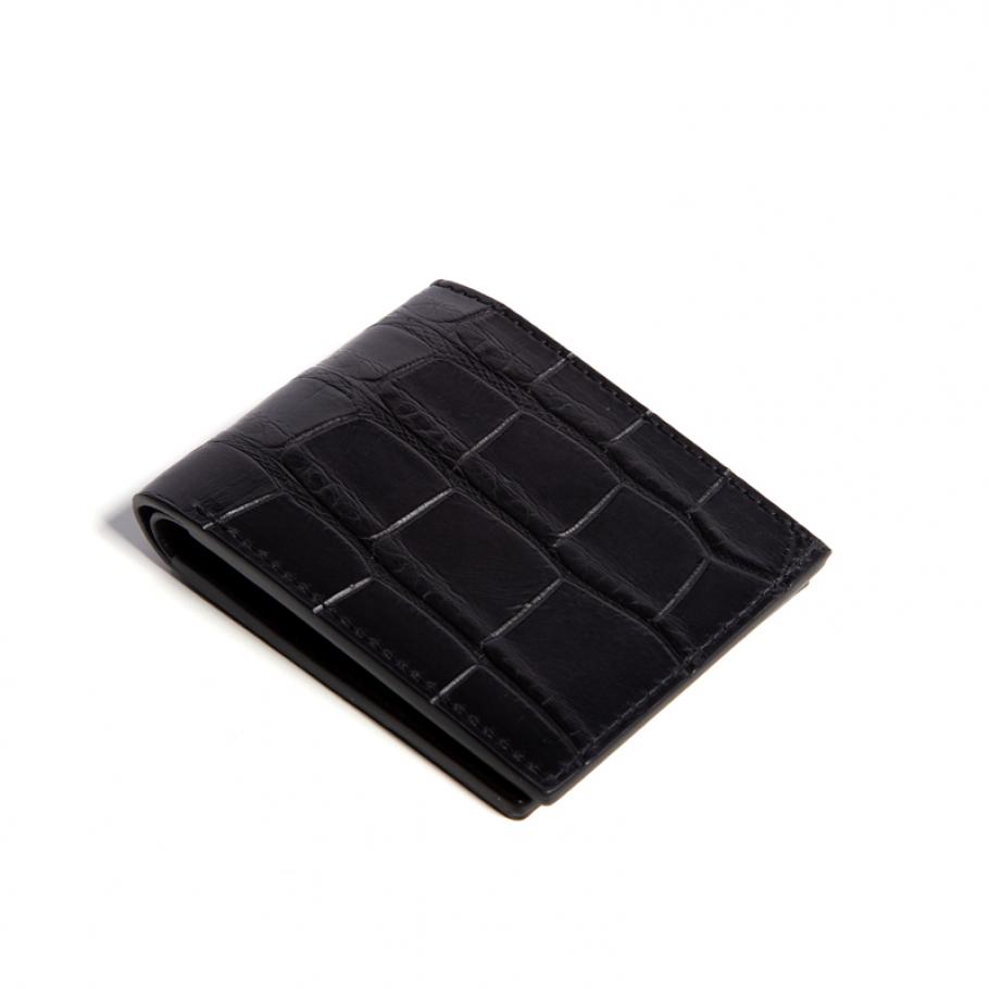 Slim Wallet Gator Black