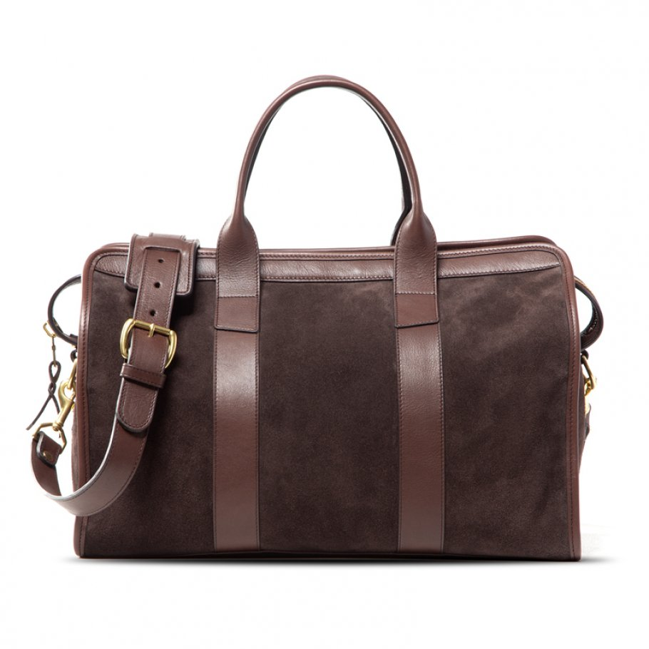 Small Duffle Bag Suede Chocolate Final
