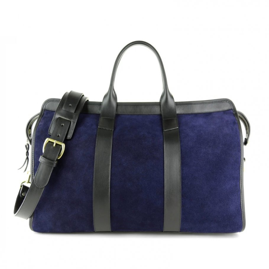 Small Duffle Bag Suede Navy
