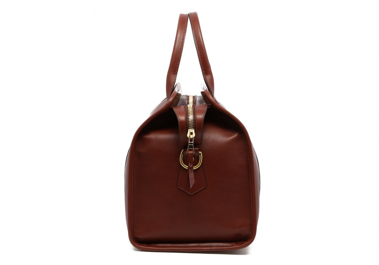 Small Leather Duffle Bag Chestnut Frank Clegg Made In Usa5