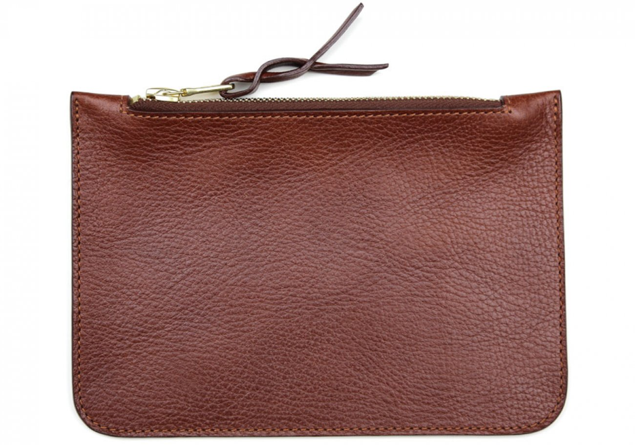 Small Chestnut Zipper Pouch Made In Usa Frank Clegg 1
