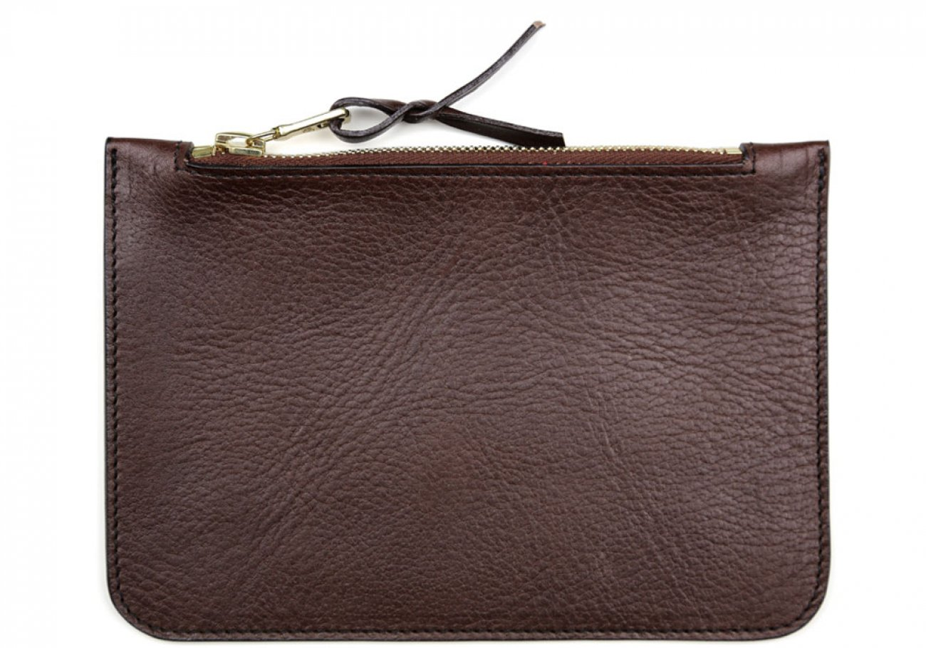 Small Chocolate Zipper Pouch Made In Usa Frank Clegg 1