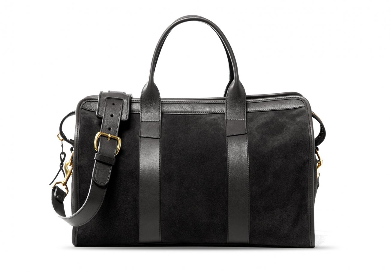 Small Duffle Bag Suede Black3 1 1